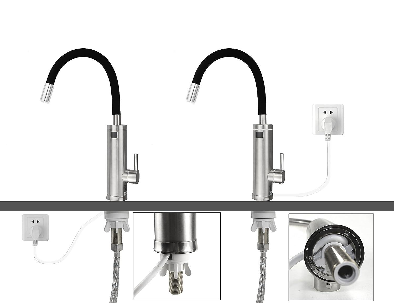 Fesselnd Elektrischer Wasserhahn Durchlauferhitzer TopSer Sdr 18dc 3 Pro 360 Grad  Schwenkbare Heiß Und Kalt Elektroheizung Warmwasserbereiter