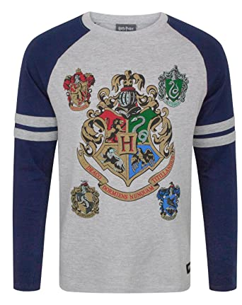 c792da7e932fc Amazon.com  HARRY POTTER Hogwarts Men s Raglan Top  Clothing