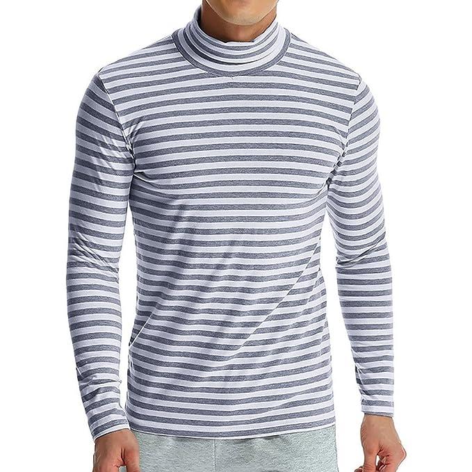 OHQ_Camisa Hombre Blusa OtoñO Moda 2018 Color Puro Conjunta Manga Larga Sudaderas Blusa Pantalones Chalecoropa Interior Tapas Camisas Polo Tops: Amazon.es: ...