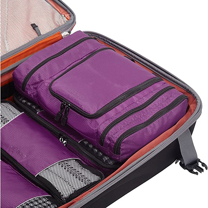 24cb394091 Amazon.com  eBags Pack-it-Flat Large Hanging Toiletry Bag and Kit -  (Black)  Clothing