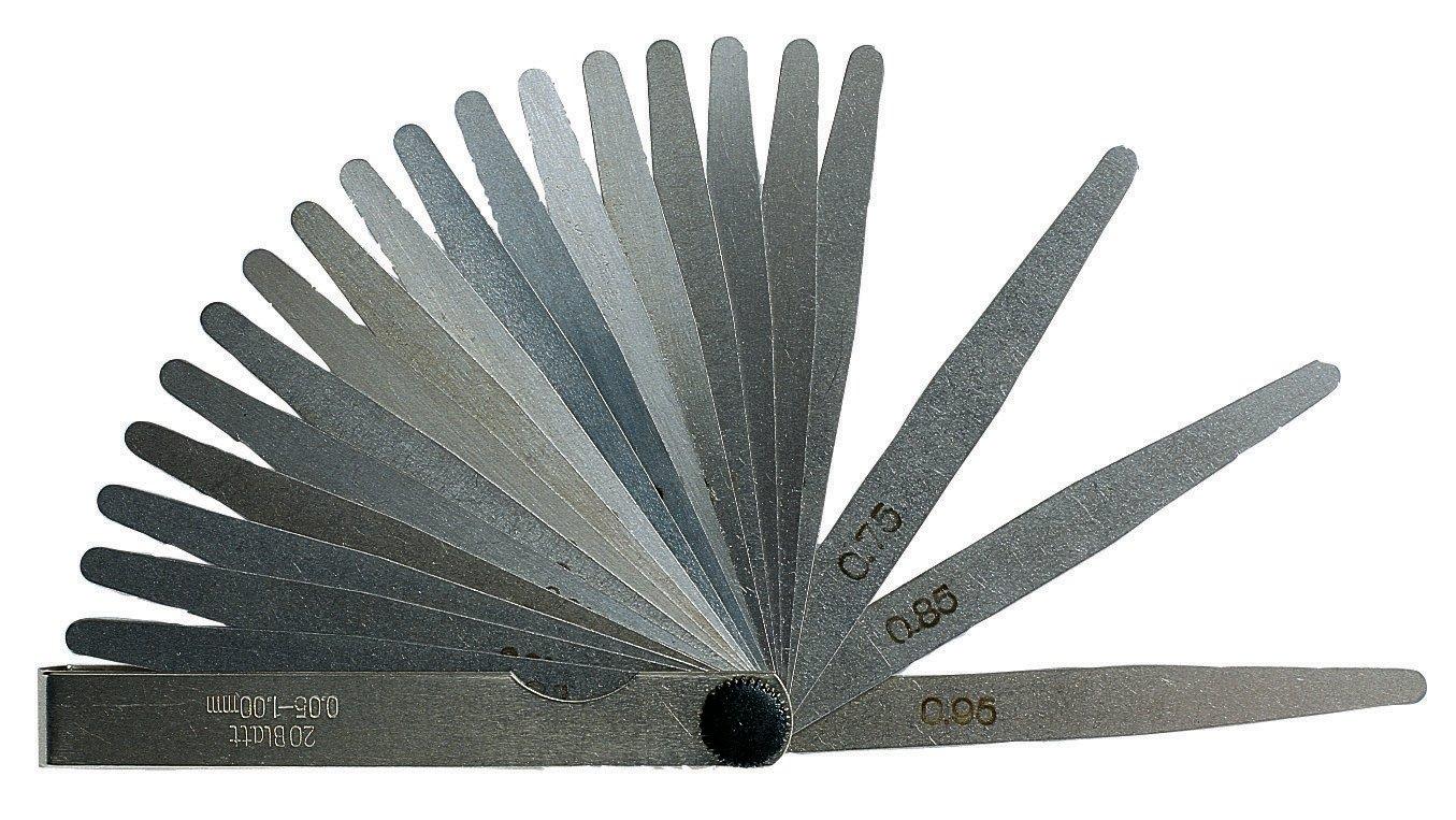 Präzisions-Fühlerlehre 0,05-0,30 mm 0,05-1,00 mm 20 Fühllehre tlg