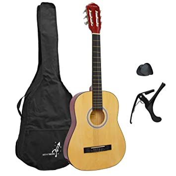 80b7cc6b5ca Rocket 3/4 Size Classical Guitar Starter Pack: Amazon.co.uk: Musical  Instruments