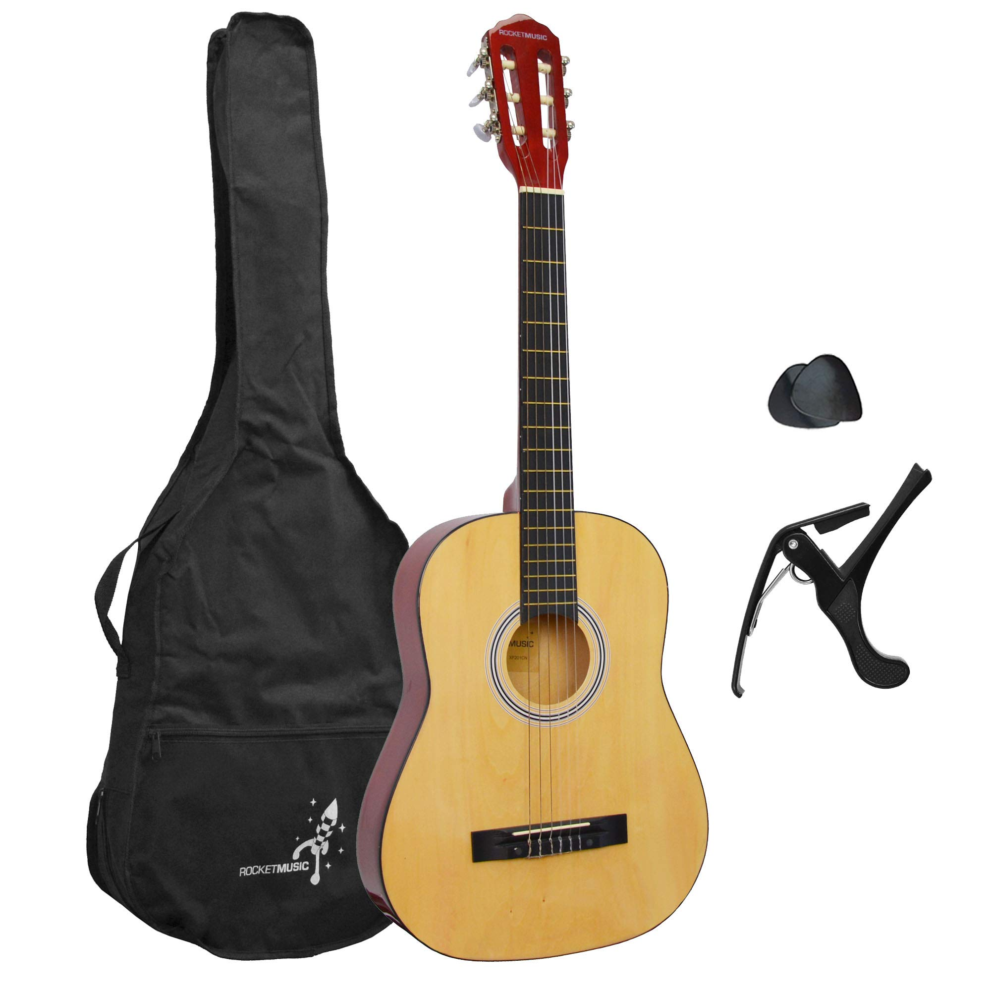 Rocket XF201CN XF Serie - Guitarra española clásica (tamaño 3/4), color