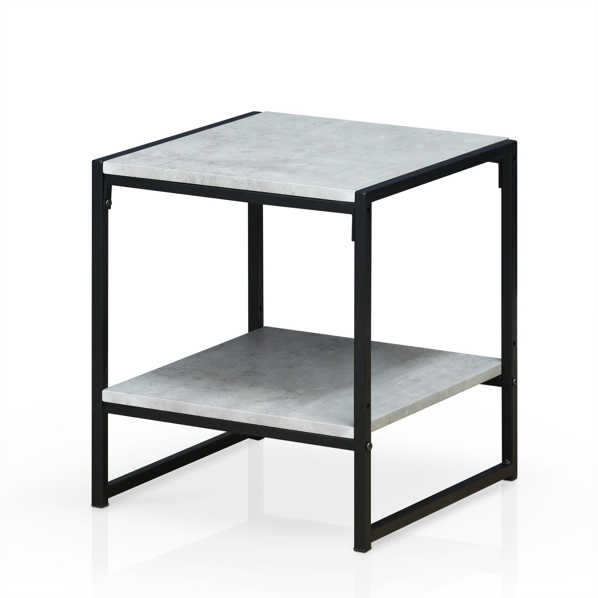 Furinno FM4045ST-2SW Modern Lifestyle 2-Tier End Table, Stone