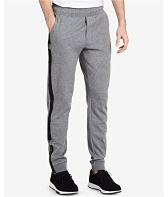 909d2ec88 Calvin Klein Mens Solid Tape Casual Jogger Pants Grey 2XL/31 at Amazon  Men's Clothing store: