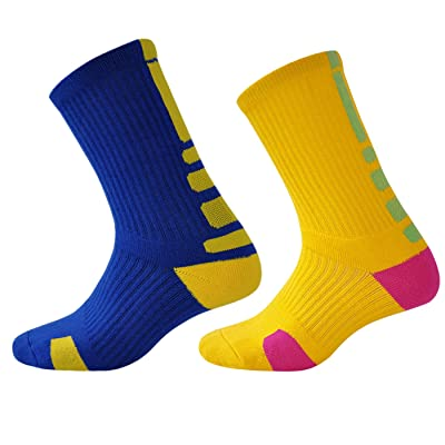 Men Thick Cushion Cotton Sports Crew Sock 2-Pack
