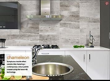 20 M2 Chameleon Marmor Effekt Grau Matt Badezimmer Wand Fliese Deal 30 X 50