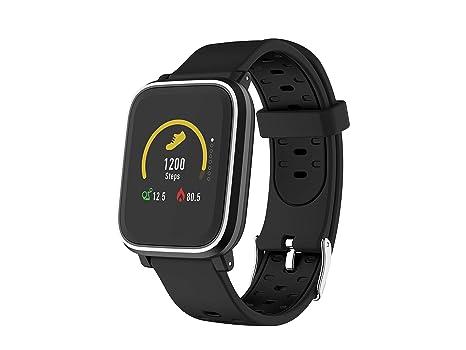 Denver Electronics SW-160 – Reloj Inteligente, Bluetooth, Sensor de frecuencia cardíaca, realiza un Seguimiento de tu Actividad física, Muestra la ...