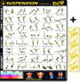 Eazy How To Suspension Cables Exercise Workout Poster BIG 51 x 73cm Train Endurance, Tone, Build Strength & Muscle Home Gym Chart
