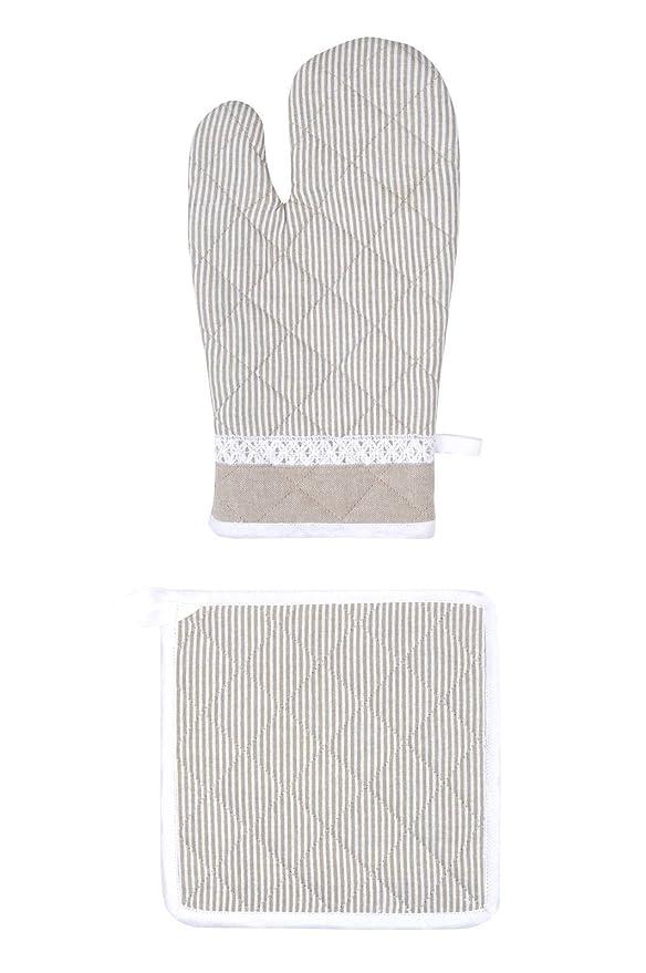 Lovely Casa Nuestra webshop Guante/manopla de algodón Lino 20 x 30 ...