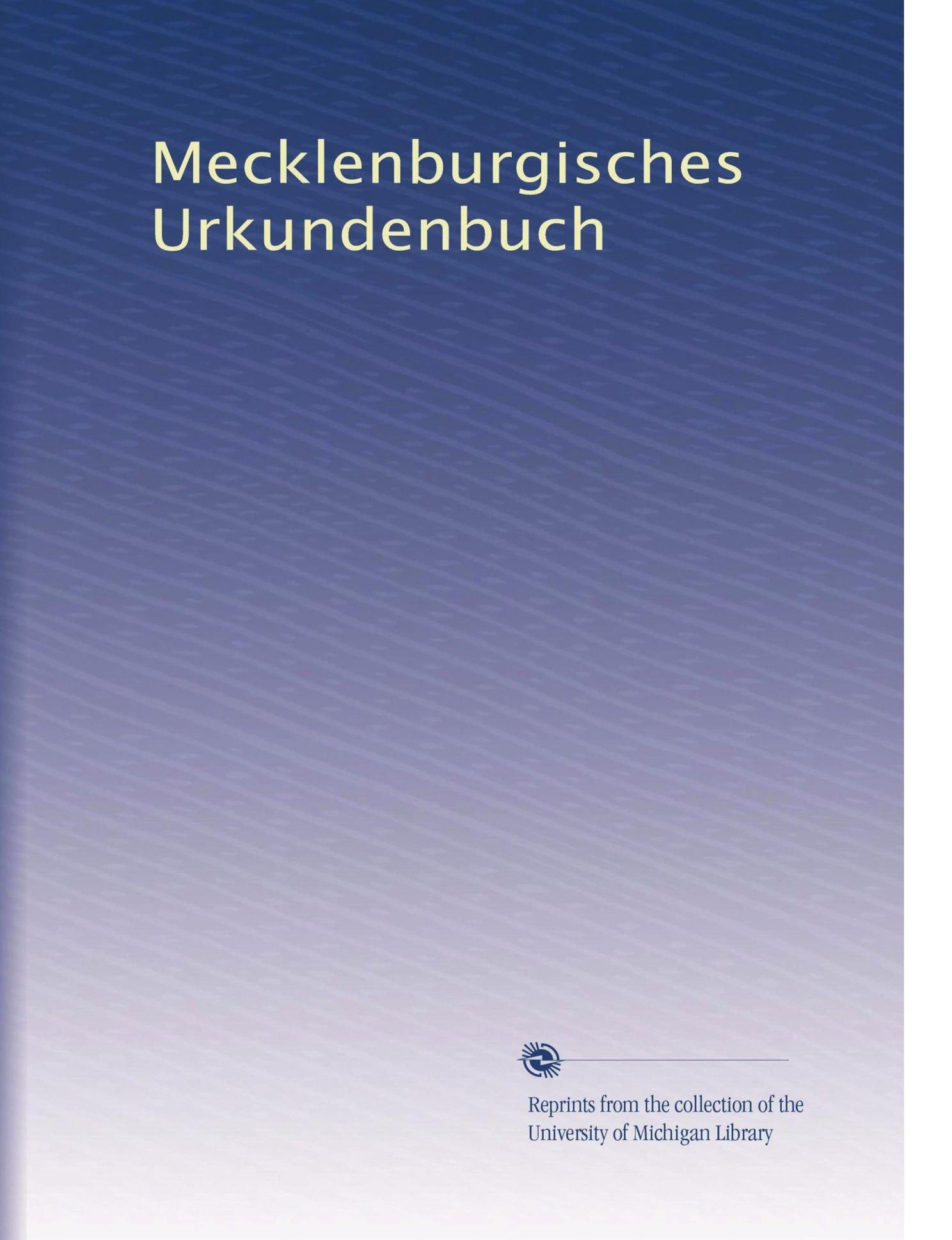 Mecklenburgisches Urkundenbuch (German Edition) ebook