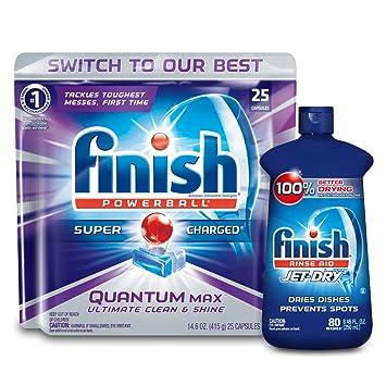 Amazon.com: Finish Quantum detergente lavaplatos + acabado ...