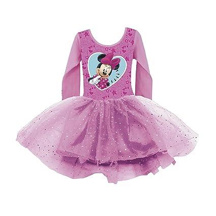 Talla Larga Disney Manga Niña Ballet Mouse Vestido Verano De Minnie 2 8qP81z