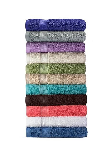 Welhome 100% algodón conjunto 8 pieza toalla (chocolate); 2 toallas de baño, 2 toallas de mano y 4 Estropajos, lavable a máquina: Amazon.es: Hogar