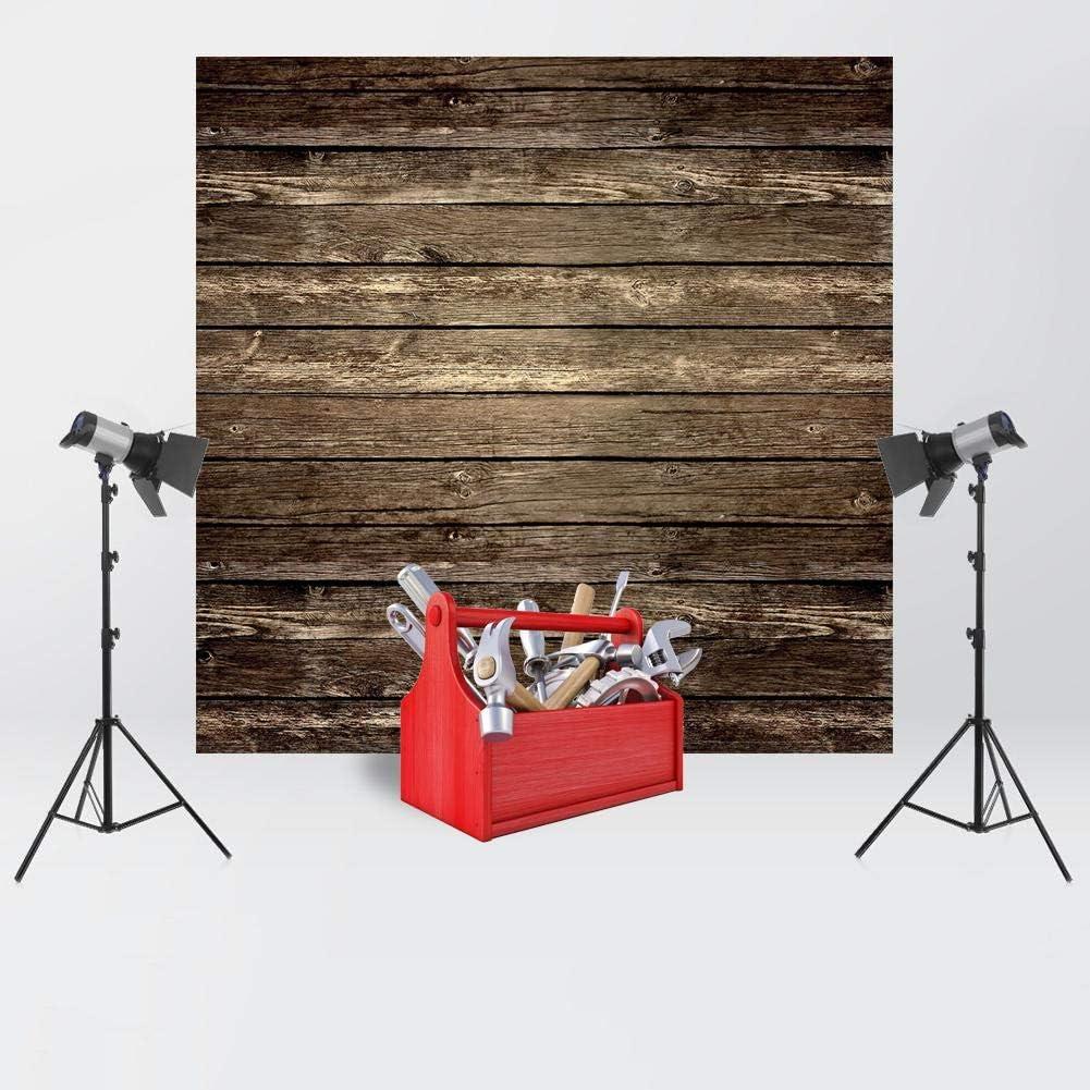 Cseves Decoraci/ón de tel/ón de Fondo de Tela de Fondo de fotograf/ía de tabl/ón de Madera 0.6x0.6m A