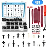 Voilamart 467 PCS Car Retainer Clips and Plastic Fasteners Kit - 19 Most Popular Sizes with Fastener Remover Push Pins…