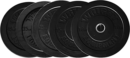 Wright Bumper Plates – 260 lb Set – Great Crossfit Olympic Lifting