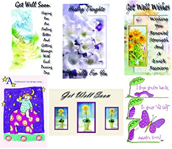 get well greeting cards in an assorted 12 pack - Get Well Greeting Cards