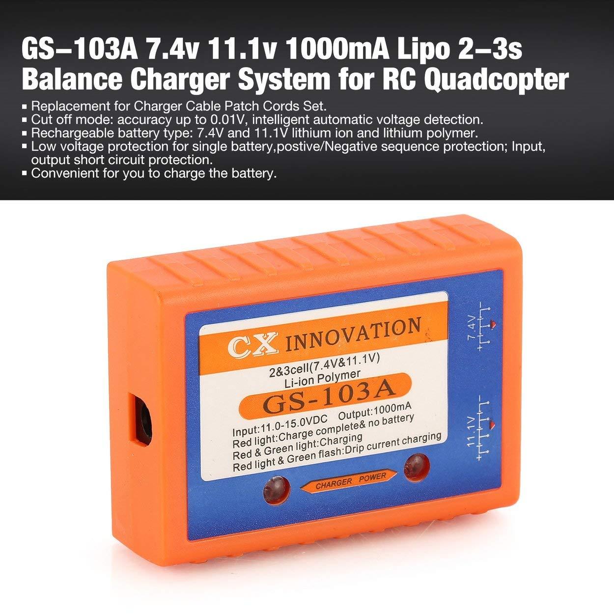 Lorenlli Ajuste GS-103A 7.4v 11.1v 1000mA Lipo 2-3s Sistema ...