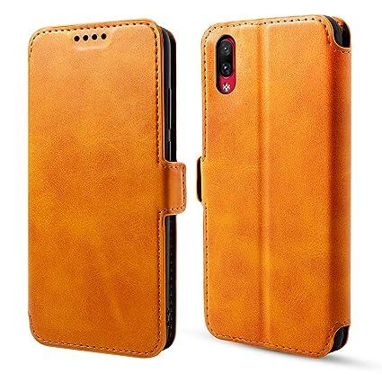 hot sale online 38137 bd5a2 Amazon.com: Torubia for VIVO NEX S Man Flip Cover with Man (Brown ...