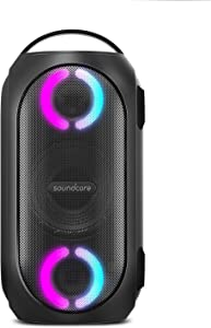 Anker Soundcore Rave Mini Portable Party Speaker, Huge 101dB Sound, Fully Waterproof, USB Charger, Beat-Driven Light Show, App, Party Games, All-Weather Speaker for Outdoor, Tailgating, Beach, Camping