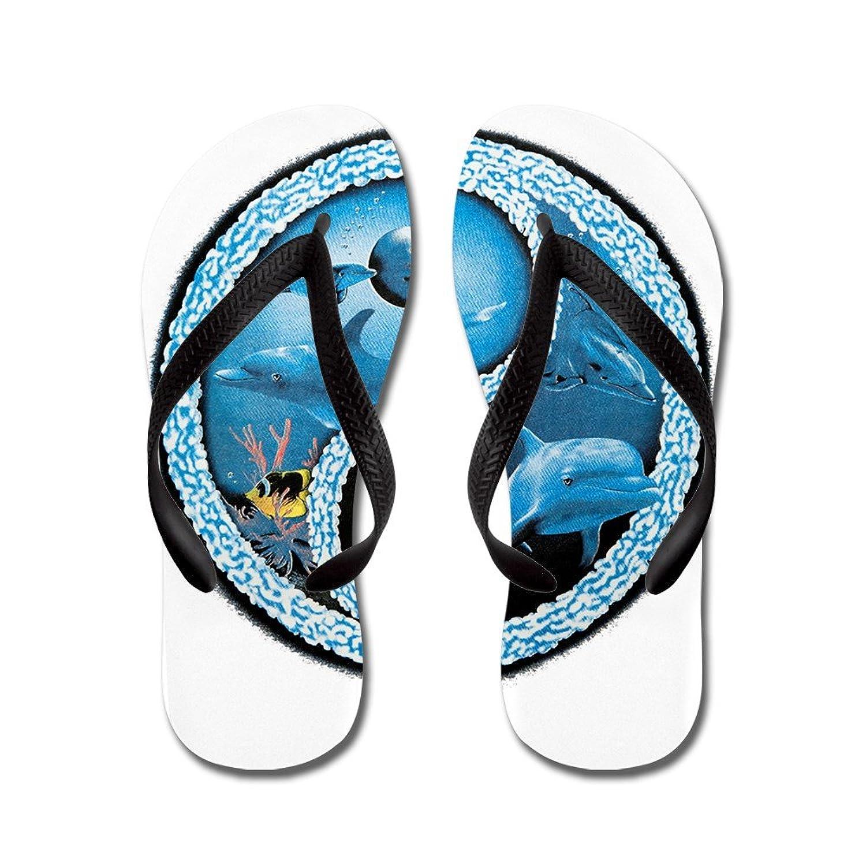 de78d34ff3553 durable modeling Royal Lion Men s Dolphin Fish Ocean Yin Yang Symbol Rubber  Flip Flops Sandals