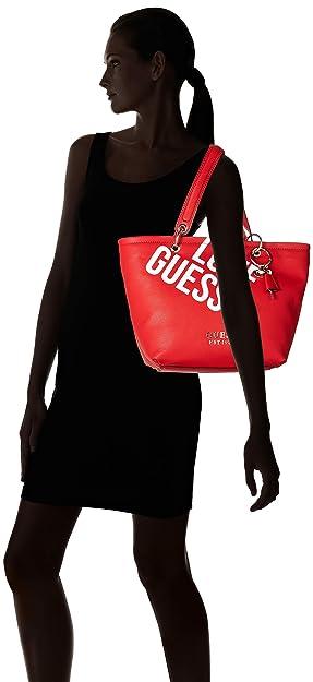 GUESS borsa shopping michy rosso taglia disponibile: taglia unica