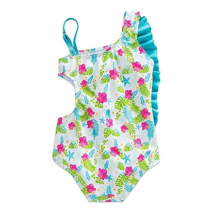 5563d6c0ab Amazon.com: Disney Ariel Swimsuit for Girls White: Clothing