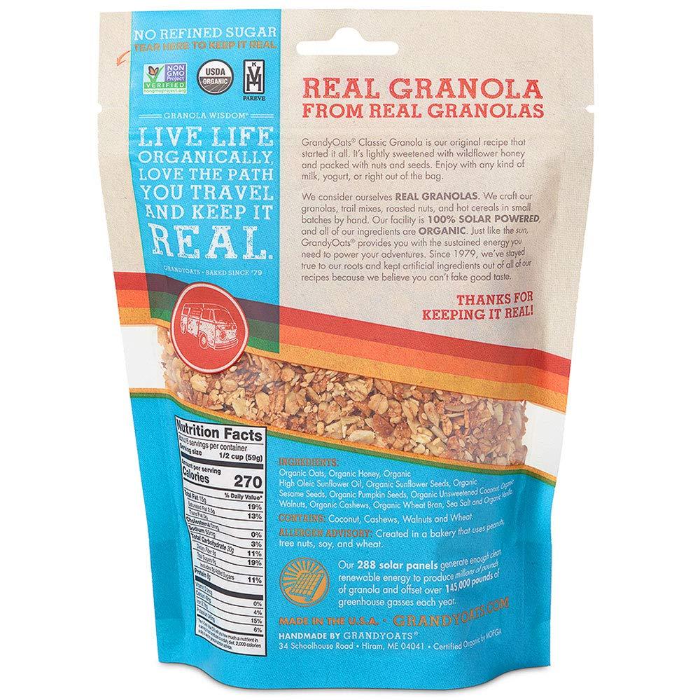 GrandyOats, Classic Granola, certificado orgánico, paquete ...