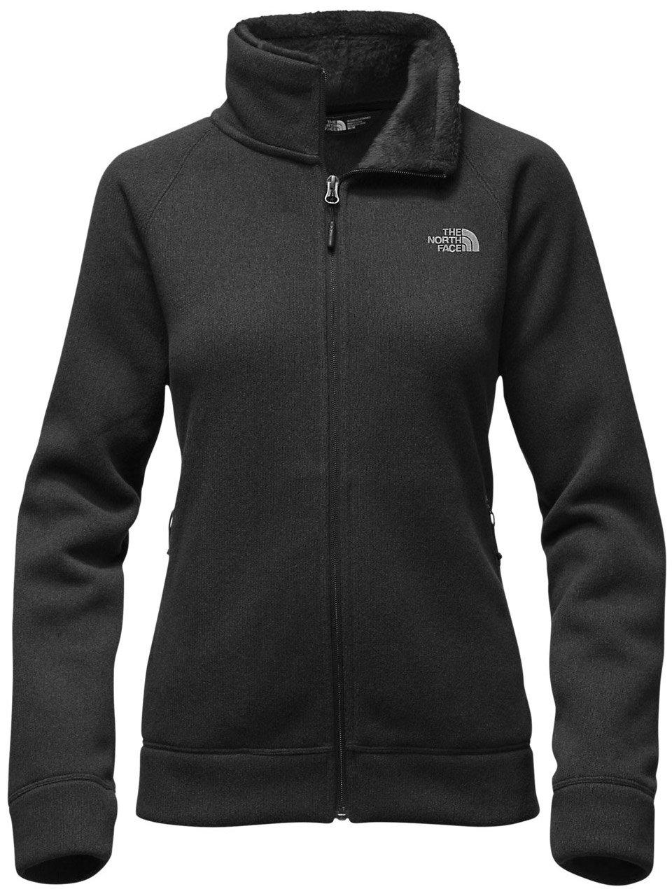 The North Face Crescent Raschel Full Zip Jacket Women's TNF Black Heather X-Large
