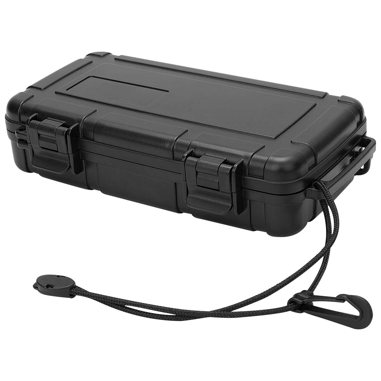 Bolsa de pl/ástico r/ígido impermeable para guardar herramientas caja de almacenamiento compacta y resistente con espuma para c/ámaras de v/ídeo negro equipos de medici/ón OCGIG