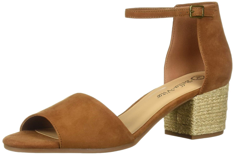 Biscuit Kidsuede Leather Bella Vita Womens Fable Quarterstrap Sandal Heeled Sandal