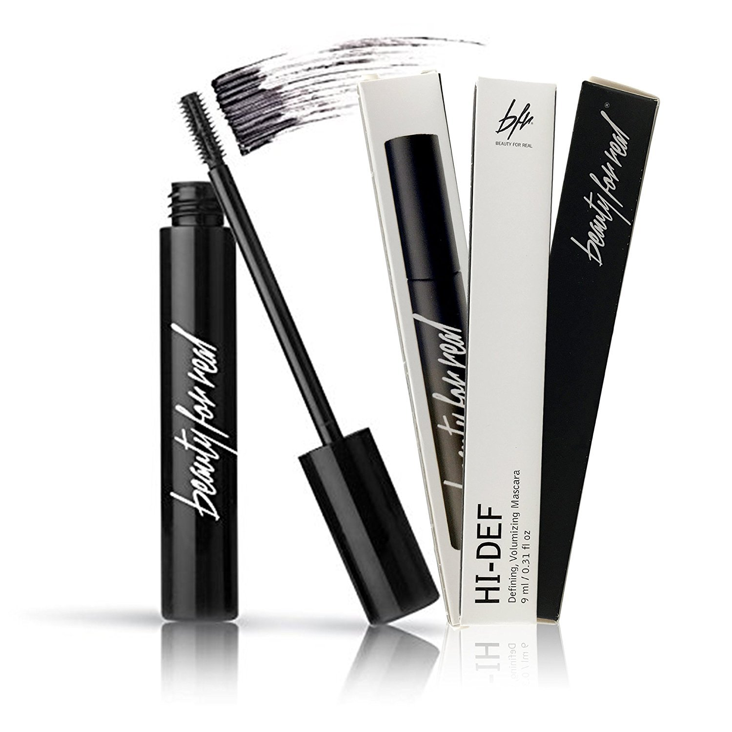 Beauty For Real HI-DEF Defining, Volumizing Mascara, Just Black, 9ml (1 Pack) (3 Pack) 25571