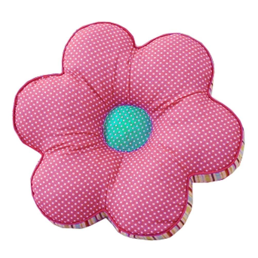 Kylin Express Color Random Circle Soft Home/Office Flower Seat Cushion Chair Pad Floor Cushion, Pink