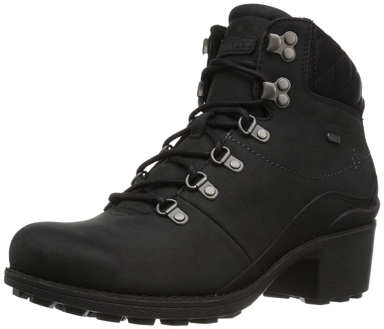 Merrell Women's Chateau Mid Lace Waterproof Snow Boot B01N0RC0KE 8 B(M) US|Black