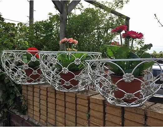 Set de 3 adornos Shabby Chic jardín maceta planta de arbustos flores macetas decorativas: Amazon.es: Jardín