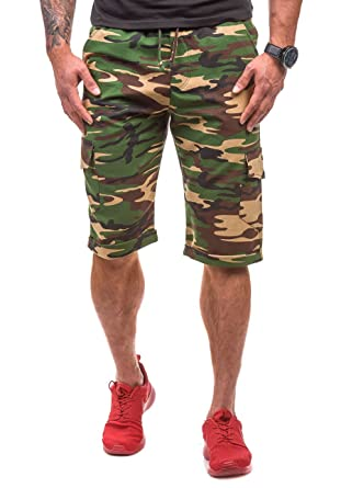 BOLF Herren Shorts Bermudas Kurzhose Sporthose Aufdruck Jogging Sport 7G7 Motiv