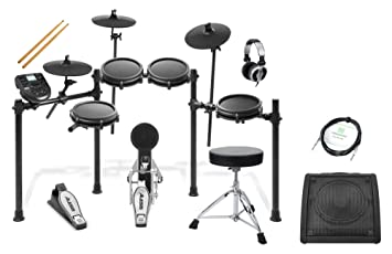 Alesis Turbo Mesh E-Drum Kit Schlagzeug Set Snare Drum Modul Kopfhörer Hocker