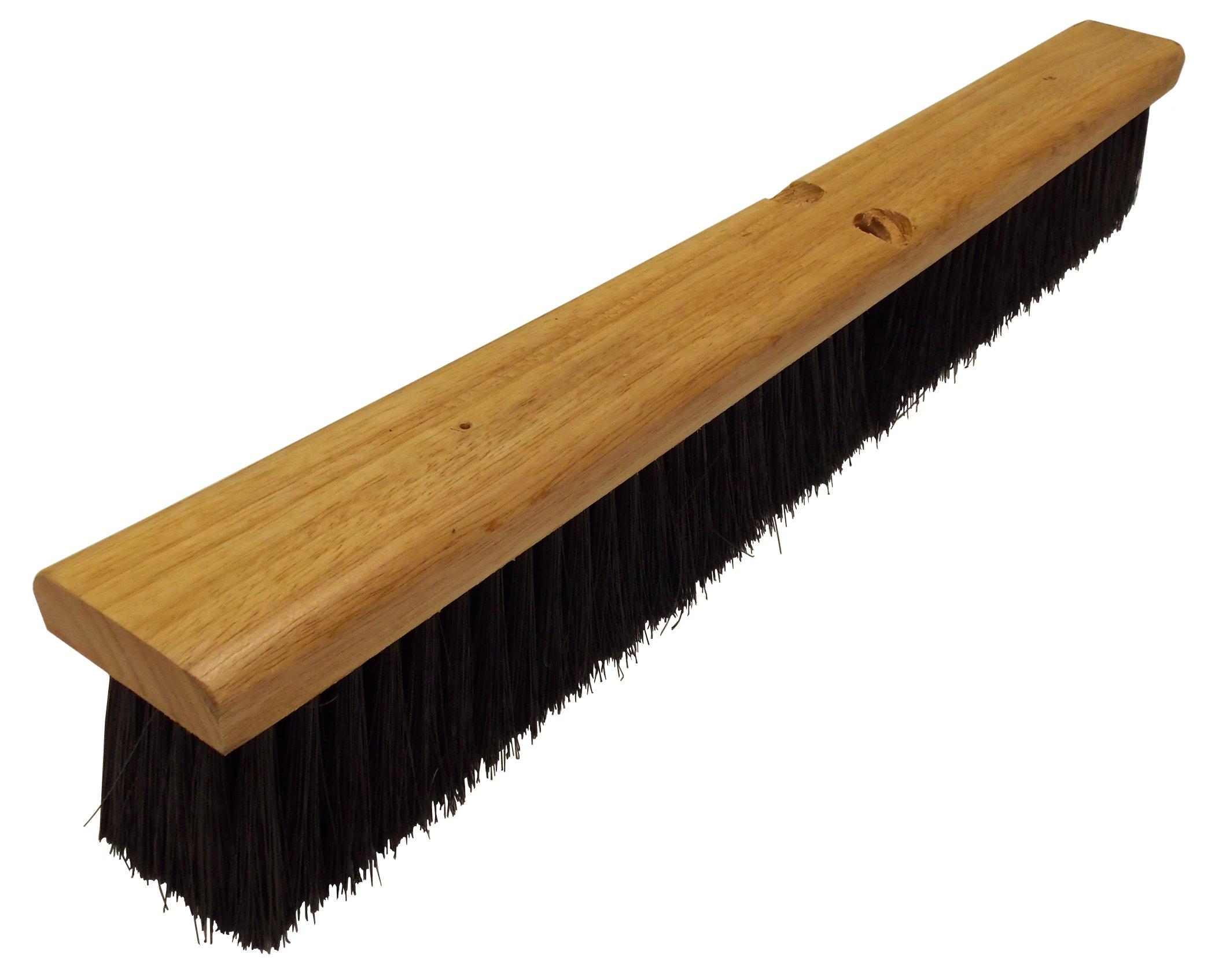 Wilen F007024, Polypropylene Floor Sweep, 24'' Wood Block, 3'' Bristle Trim, Black (Case of 12)