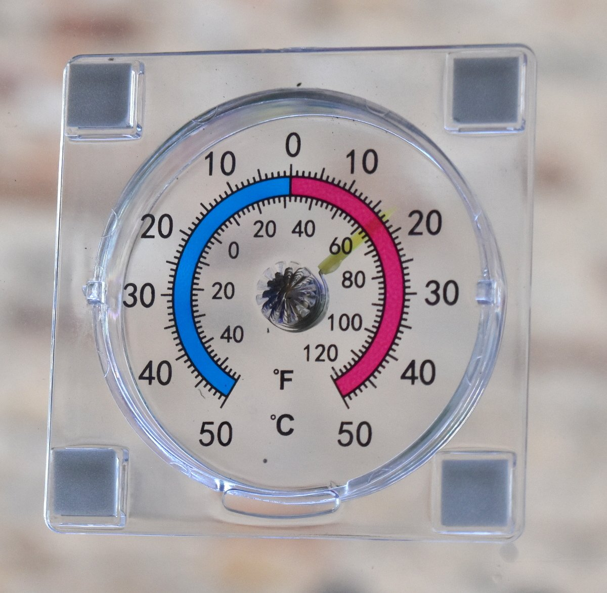 Dial / Analogue Indoor / Outdoor stick on Garden Window thermometer DarwinUK