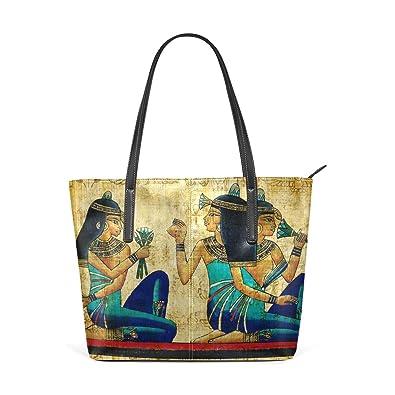 0ce0f8f59 Amazon.com: African Tribal Girl Leather Top Handle Satchel Girl Handbag  Shoulder Tote Bag for Girls Women: Shoes