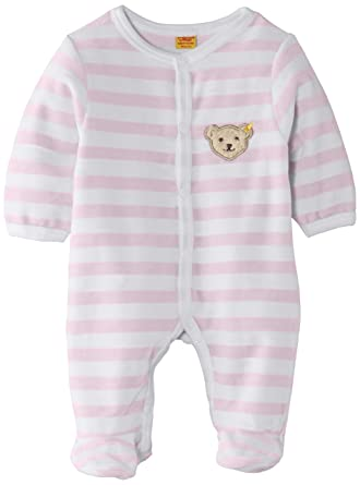 2180e3347482 Steiff Unisex Baby 0002848 1 1 Sleeves Striped Romper  Amazon.co.uk ...