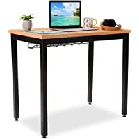 """Small Computer Desk for Home Office, 36"""" Length Table w/Cable Organizer, Sturdy and Heavy Duty Writing Desk for Small…"""