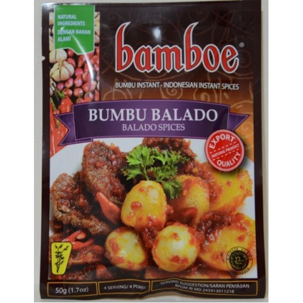 Bamboe Bumbu Balado Spices, 50 Gram/1.7 Oz (Pack of 6)