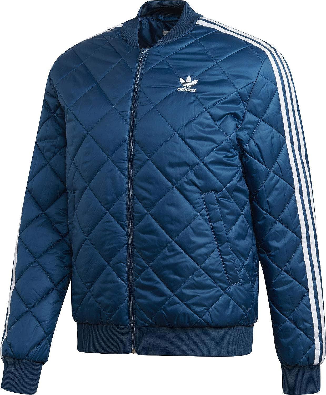 adidas Originals Jacke Herren SST Quilted DV2301 Blau, Größe