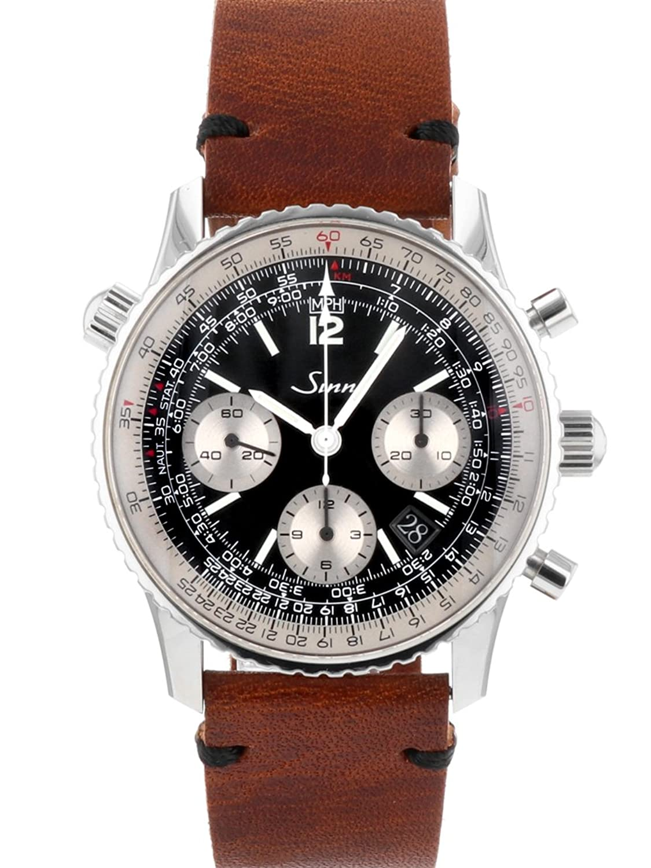 [ジン] BREGUET 腕時計 Sinn model.903 SS/ブラウンレザー ブラック文字盤 自動巻き シースルーバック メンズ[中古品] [並行輸入品] B07CZB65DD