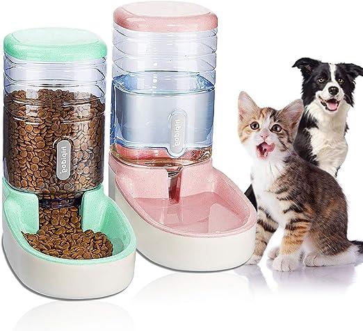 UniqueFit Pets Gatos Perros Riego automático y alimentador de ...