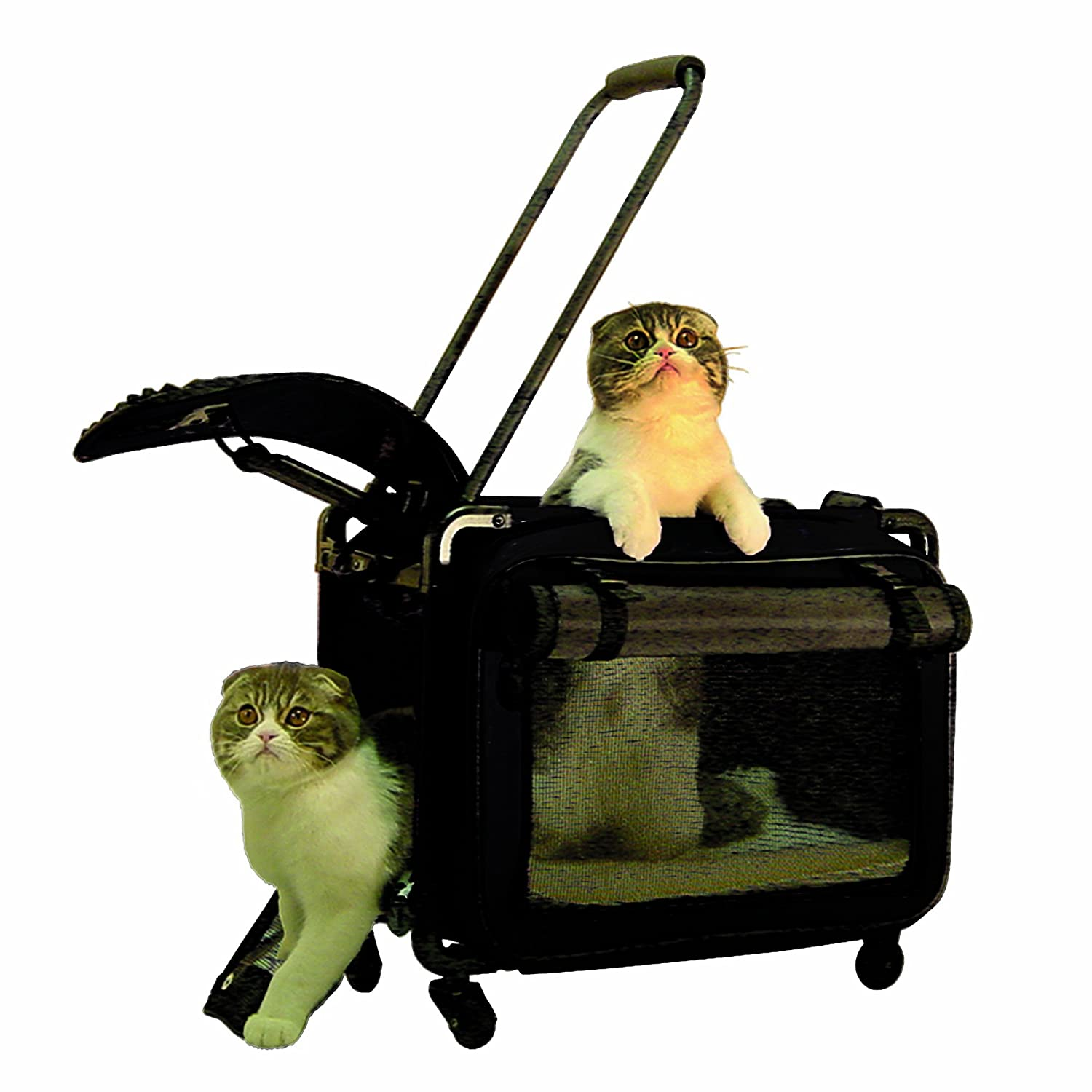 Tutto Small Pet on Wheels Stroller, 17-Inch, Black 4217BPB