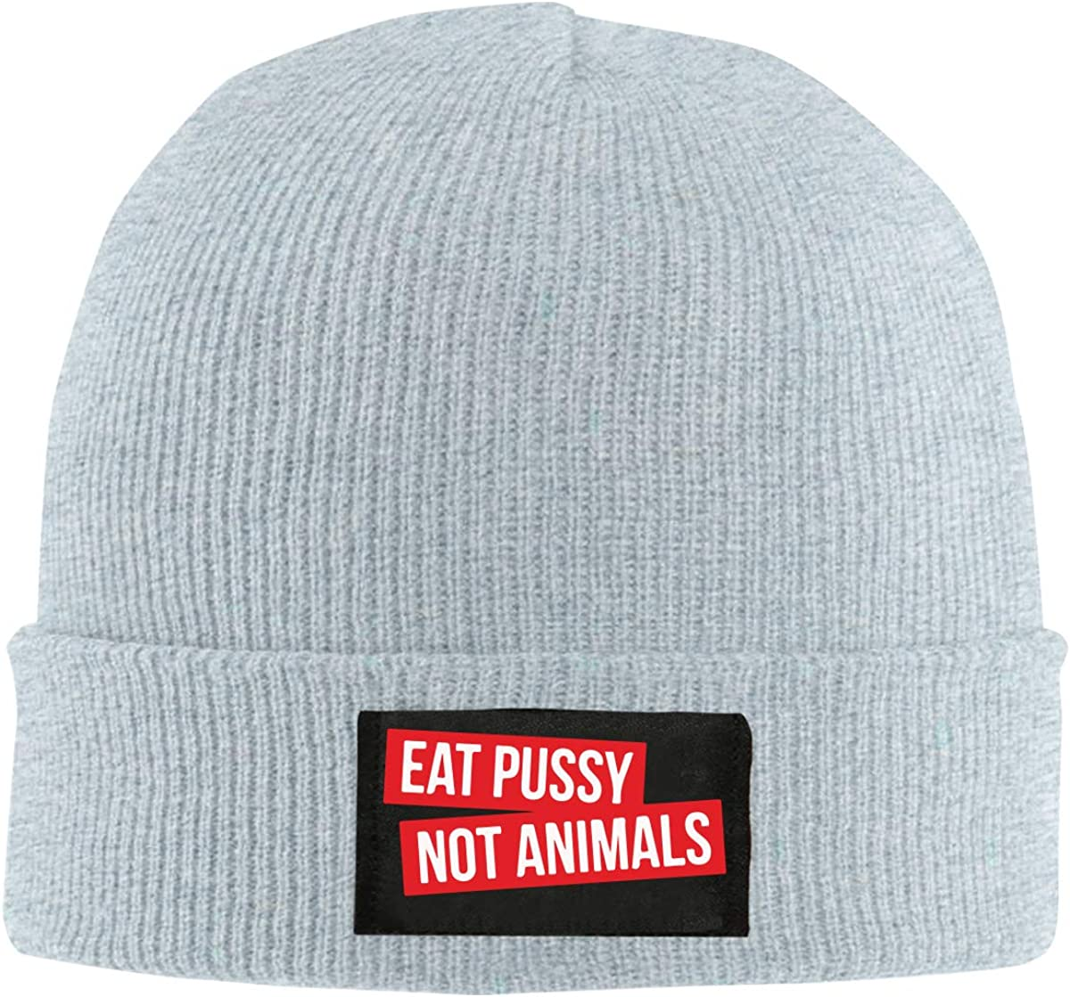 Eat Pussy Not Animals Men Women Knitted Hat Winter Warm Pure Color Hat