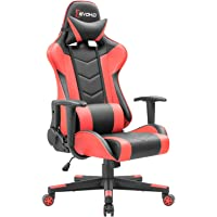 Devoko Ergonomic Gaming Chair Racing Style Adjustable Height High-Back PC Computer Chair with Headrest and Lumbar Massage Support Executive Office Chair